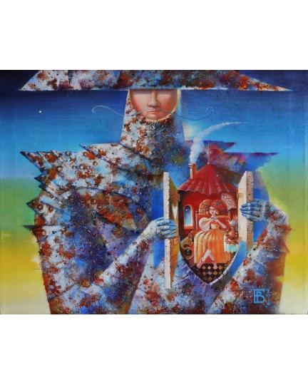 """LA DAMA DEL MIO CUORE"" (Дама моего сердца) Виктория Бубнова (холст, масло, 50х40см, 2016)"