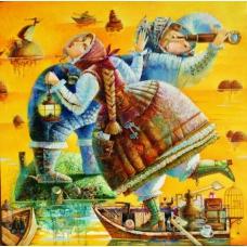 """""""CERCO TE"""" (Ищу тебя) Виктория Бубнова (холст, масло, 70х70см, 2016)"""