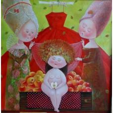 """SPOSA"" (Bride) Viktoriya Bubnova (oil on canvas, 60x60cm, 2014)"