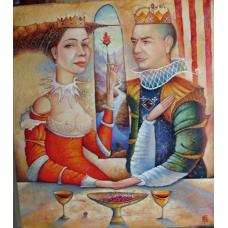 """PROMESSA D'AMORE"" (Promise of love) Viktoriya Bubnova (oil on canvas, 80x90cm, 2011)"