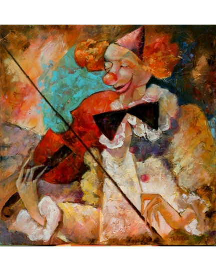 """ADAGIO""  Viktoriya Bubnova (oil on canvas, 60x60cm, 2007)"