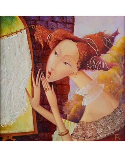 """""""PETTEGOLE III"""" (Сплетницы III) Виктория Бубнова (холст, масло, 50х50см, 2010)"""