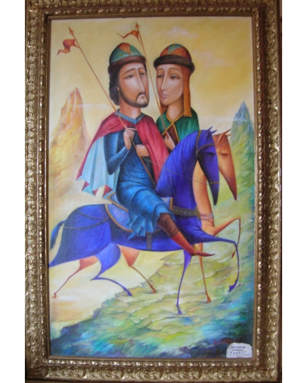 """INSIEME SIAMO FORTI!"" (We are strong together!)  Viktoriya Bubnova (oil on canvas, 60x100cm, 2006)"