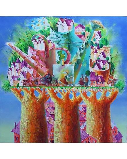 """PROFUMO D'ESTATE"" (Аромат лета) Виктория Бубнова (холст, масло, 40х40см, 2017)"
