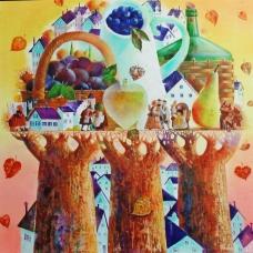"""PROFUMO D'AUTUNNO"" (Fragrance of autumn) Viktoriya Bubnova (oil on canvas, 40x40cm, 2017)"