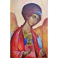 """S.Michele Arcangelo"" (St.Michael the Archangel)  Viktoriya Bubnova (oil on canvas, 40x60cm, 2003)"