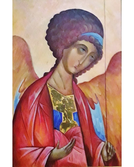 """S.Michele Arcangelo"" (St.Michael the Archangel)  Viktoriya Bubnova (oil on canvas, 40x60cm, 2003)"