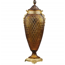 "CRYSTAL AMPHORA WITH LID ""CARMEN"""