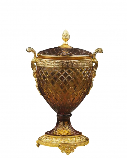 "CRYSTAL CUP WITH LID ""CARMEN"""