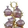 3-TIER STAND for sweets and nuts Grand Opera with crystal vases H75 cm  - photo 2