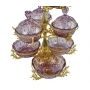 3-TIER STAND for sweets and nuts Grand Opera with crystal vases H75 cm  - photo 4