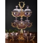 3-TIER STAND for sweets and nuts Grand Opera with crystal vases H75 cm  - photo 5