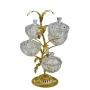 3-TIER STAND for sweets and nuts Tree branch with crystal vases H42 cm  - photo 2