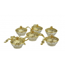 SET for sweets/nuts Branch with crystal vases