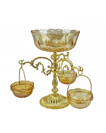2-TIER VASE-STAND for fruits, sweets and nuts H36 cm