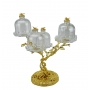 2-TIER STAND for sweets and nuts Tree with crystal vases H36 cm - photo 2