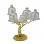 2-TIER STAND for sweets and nuts Tree with crystal vases H36 cm - photo 3