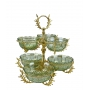 2-TIER STAND for sweets/nuts Opera with crystal vases H50 cm - photo 2