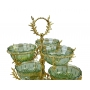 2-TIER STAND for sweets/nuts Opera with crystal vases H50 cm - photo 3
