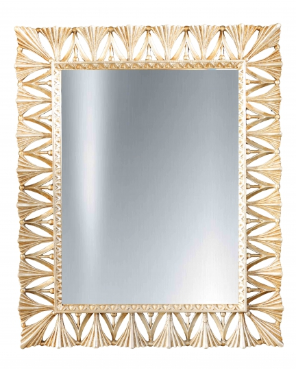 RECTANGULAR MIRROR, 90x110 cm, carved frame