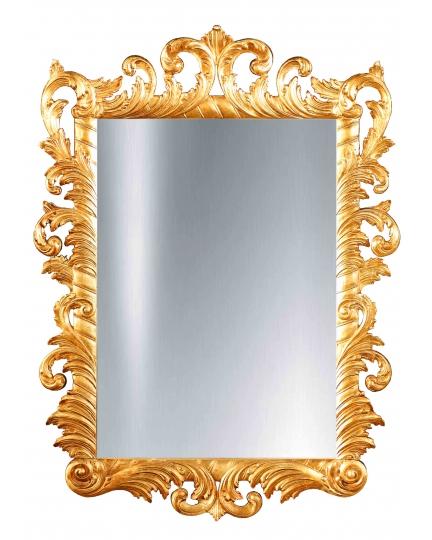 RECTANGULAR MIRROR, 90x120 cm, carved frame