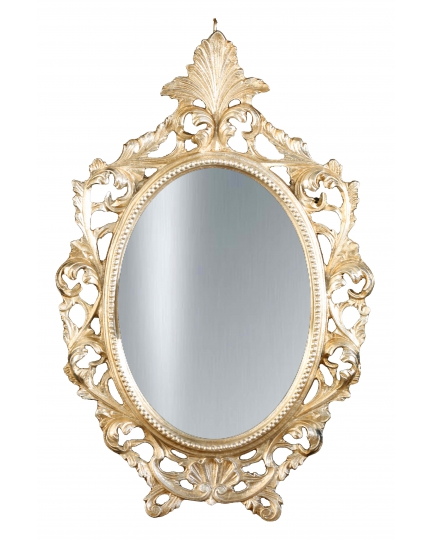 OVAL MIRROR, 45x70 cm, carved frame