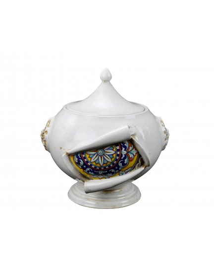"""TUREEN from a series """"SURPRISE"""" (ornament 155)  H35 cm"""