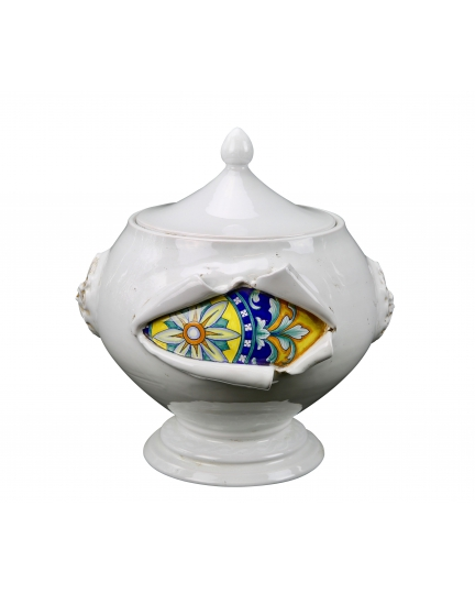 "TUREEN from a series ""SURPRISE"" (ornament 155)  H37 cm"
