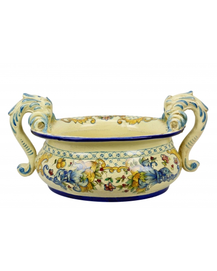 "BOWL with handles 0003 from a series ""Florence"" H33 cm"