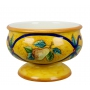 """FOOTED PLANTER  from a series """"Orange and Blue"""" D36 cm"""
