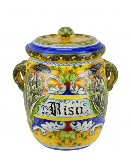 """JAR WITH LID """"RISO"""" 0059 H34 cm"""