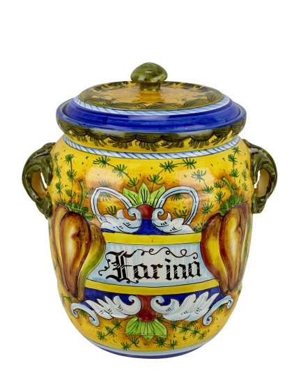 "JAR WITH LID ""FARINA"" 0062 H34 cm"