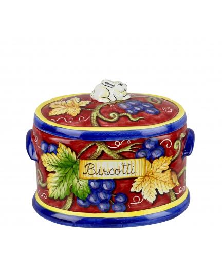 "JAR WITH LID ""BISCOTTI"" 0071 H23 cm"