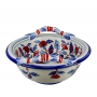 ROUND BOWL with handles 0084 H20 cm