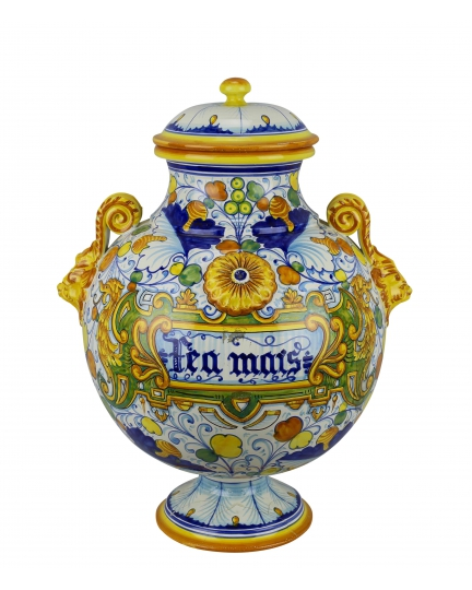 DECORATIVE AMPHORA with lid 0108 H47 cm