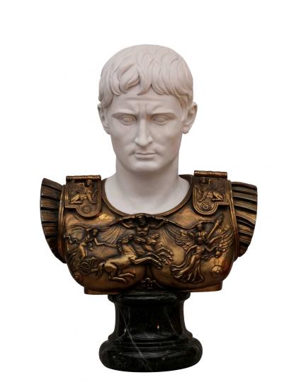 CAESAR AUGUSTUS  marble bust  (copy by G.Ruggeri)
