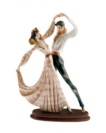"""DANCERS"" marble statuette"