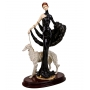 """""""GIRL WITH GREYHOUND"""" marble statuette  (E.Furiesi) - photo 2"""