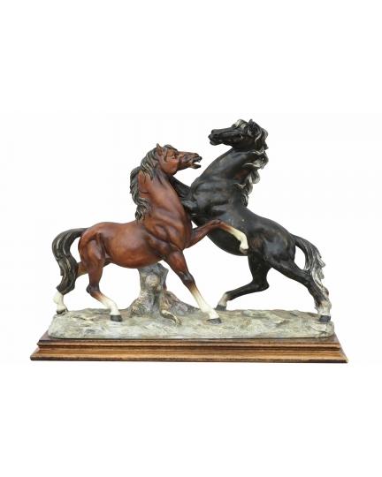 """HORSES"" marble statuette"
