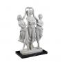 THE THREE GRACES DANCING marble statuette (A.Santini) - photo 2