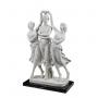 THE THREE GRACES DANCING marble statuette (A.Santini) - photo 3