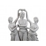 THE THREE GRACES DANCING marble statuette (A.Santini) - photo 4