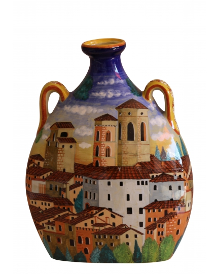 "DECORATIVE FLASK from a series ""Renaissance landscape"" H32 cm"