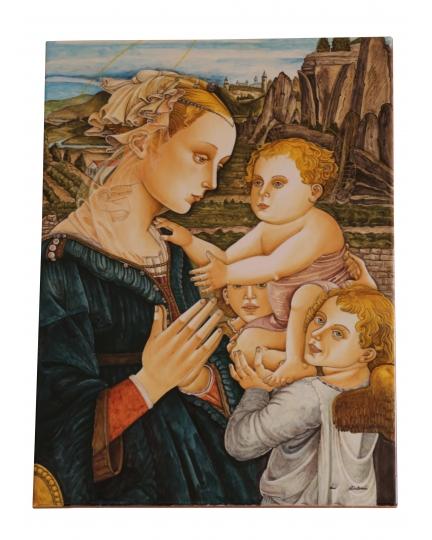 TILE with Madonna Filippino Lippi 33x45 cm