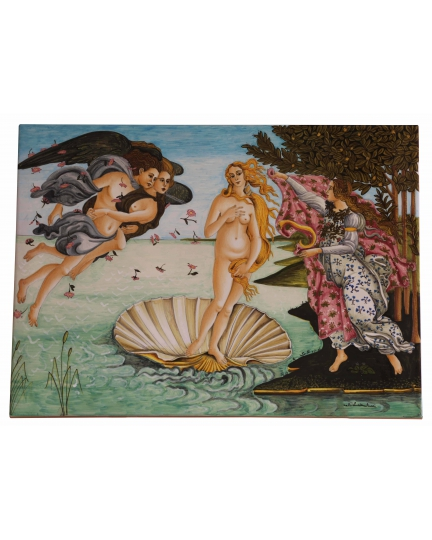 "TILE ""Birth of Venus"" Botticelli 45x33 cm"