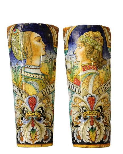 DECORATIVE WALL LAMPS (pair)  H52 cm