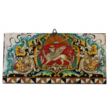 "DECORATIVE TILE ""GRIFFIN ON A RED BACKGROUND""  50x25 cm"