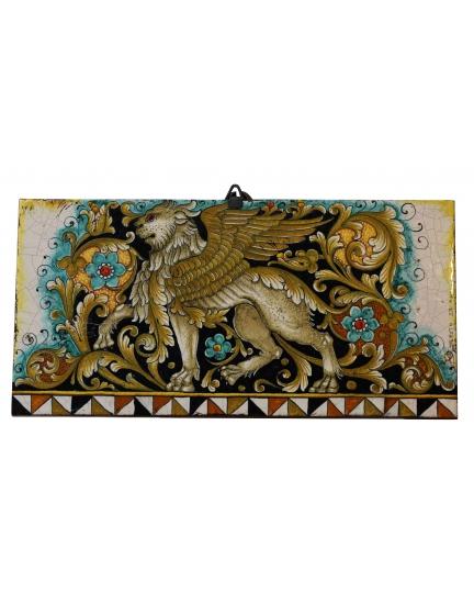 """DECORATIVE TILE """"WINGED LION""""  50x25 cm"""