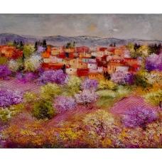 """""""Quei sorsi di quiete"""" (Glots of quiet) Luciano Pasquini (oil on canvas, 120 х 100 см, 2016)"""