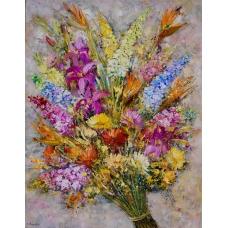 """""""Tracce foglianti"""" (Signs of autumn) Luciano Pasquini (oil on canvas, 70 х 90 см, 2016)"""
